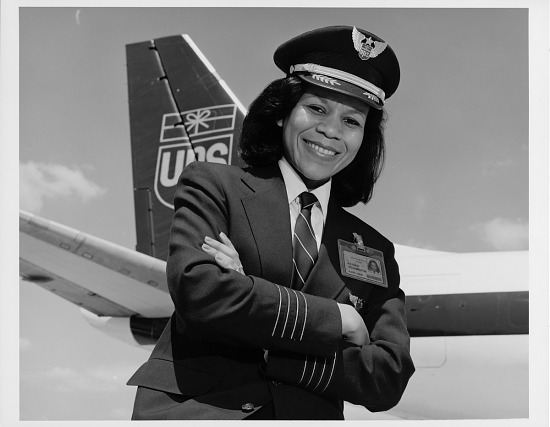 image for Washington, Patrice Clarke; Airlines, United Parcel Service (UPS) (USA); Air Cargo; Douglas DC-8; Women in Aviation;B̀lacks in Aviation. digital image