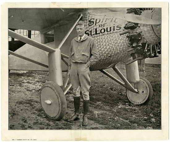 "image for Lindbergh, Charles Augustus; Ryan NYP ""Spirit of St Louis"". photograph"