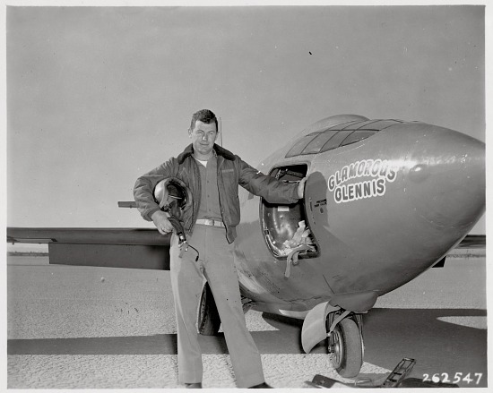 """image for Yeager, Charles Elwood """"Chuck""""; Bell X-1 """"Glamorous Glennis"""". photograph"""