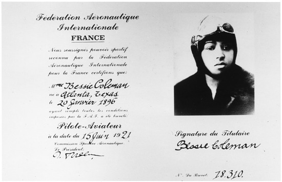 image for Coleman, Bessie; Organizations, Fédération Aéronautique Internationale (FAI) (France). photograph