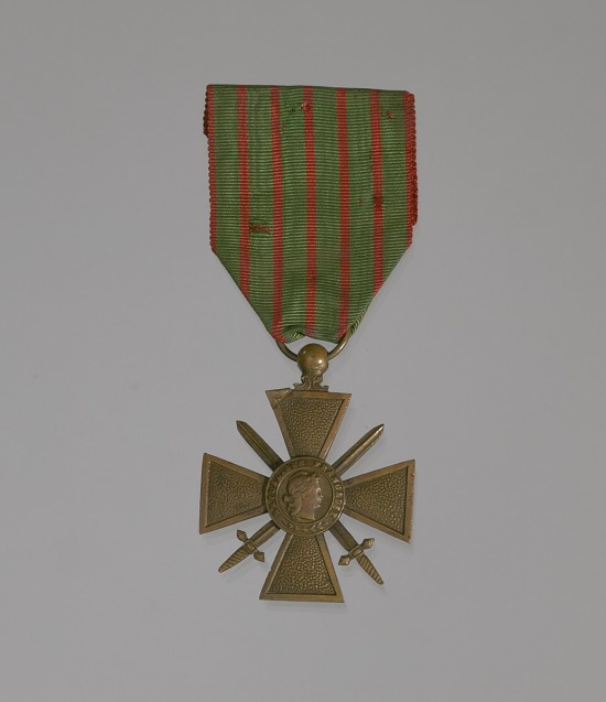 image for World War I Croix de Guerre medal awarded to the 369th Infantry Regiment