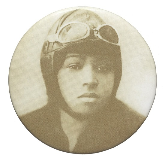 image for Pinback button featuring a portrait of Bessie Coleman