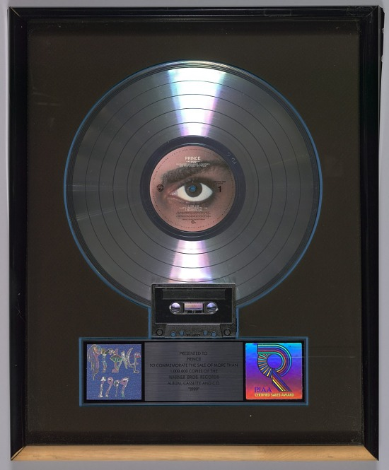 image for Platinum Record Award for the album 1999 given to Prince