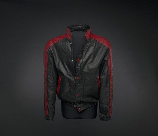 image for Black and red leather jacket worn by Kurtis Blow