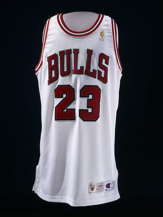 sale retailer 9fa43 aa460 Chicago Bulls Basketball Jersey, worn by Michael Jordan ...