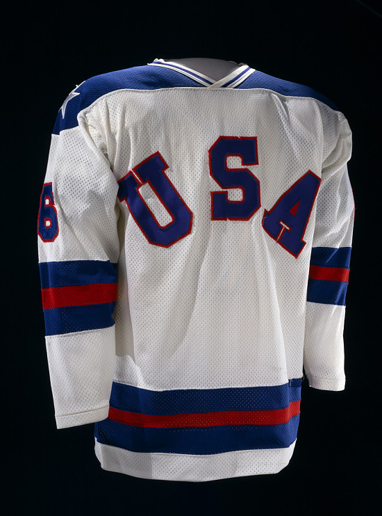 image for Team USA Hockey Jersey, worn by Bill Baker