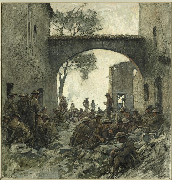 image for Troops Waiting to Advance at Hattonchâtel - St. Mihiel Drive