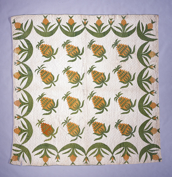 """image for 1840 - 1860 """"Pineapple"""" Quilt"""