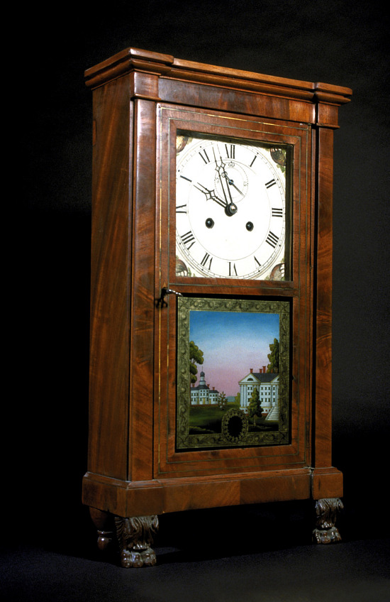 image for Curtiss and Clark Shelf Clock, about 1825