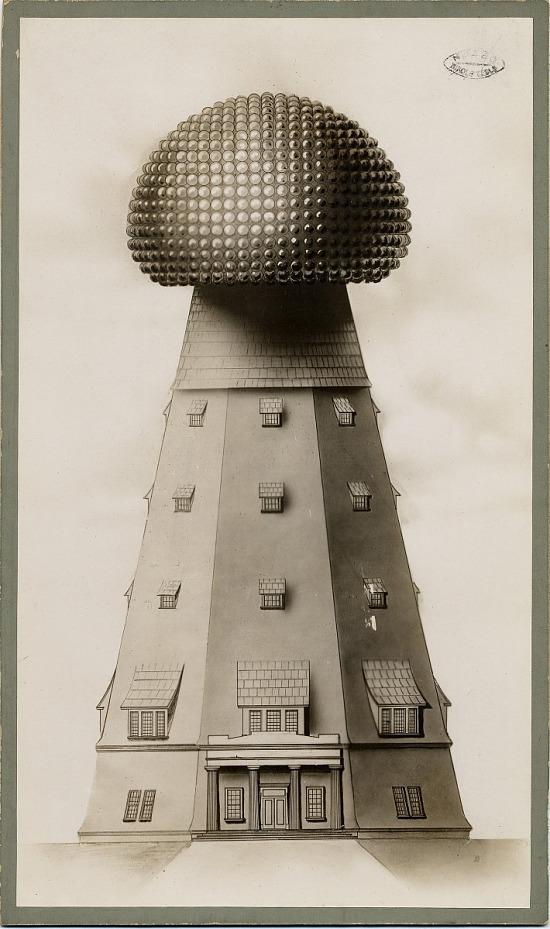 image for Illustration of Tesla's tower, Long Island laboratory, New York