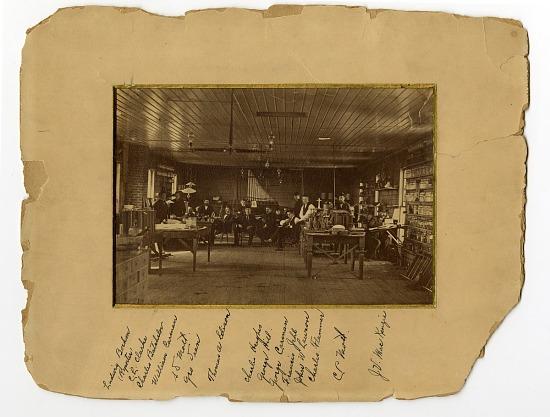 image for Interior of Edison's laboratory, Menlo Park, New Jersey : black & white photoprint.