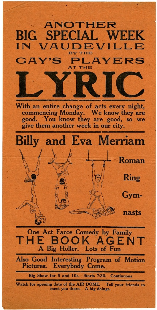image for Another big special week in vaudeville by the Gay's players at the Lyric: advertisement