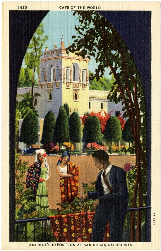 image for Cafe of the World--America's Exposition at San Diego, California picture postcard