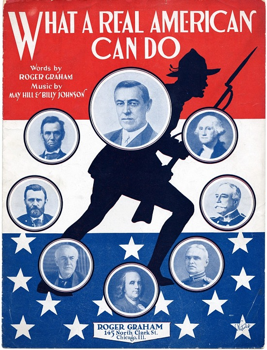 image for What a Real American Can Do sheet music, 1917
