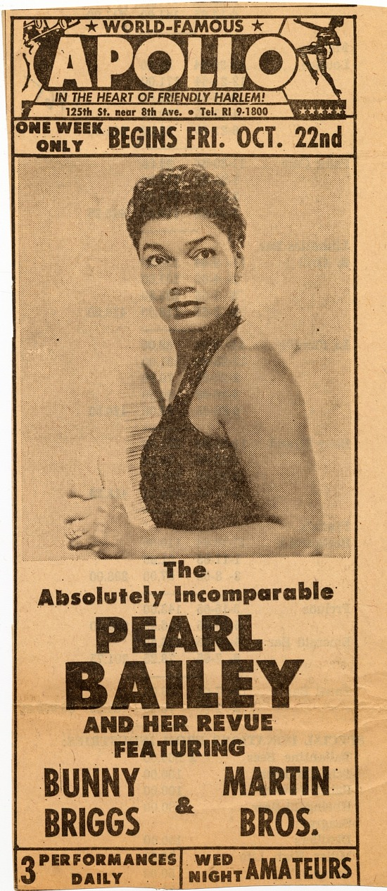 image for Pearl Bailey newspaper advertisement
