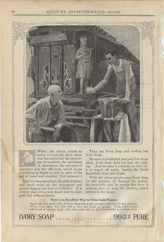 image for Ivory Soap .. 99 44/100% Pure. Print advertising. The Century Magazine. 1913