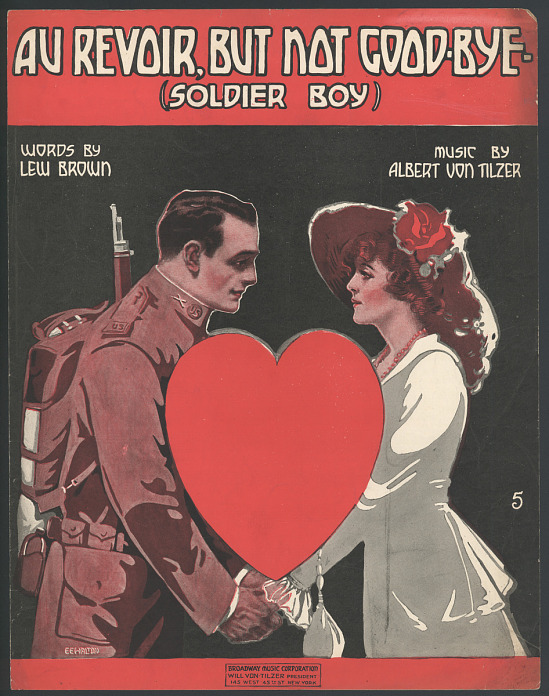 """image for """"Au Revoir, but Not Good-Bye (Soldier Boy)"""" Sheet Music"""