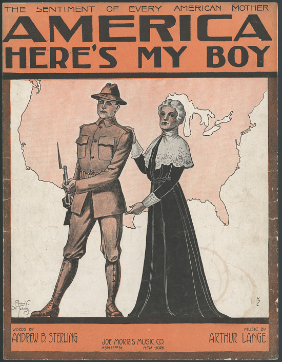"""image for """"America Here's My Boy"""" Sheet Music"""