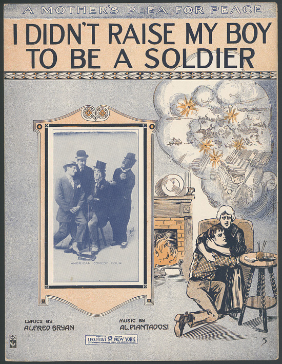 "image for ""I Didn't Raise My Boy to Be a Soldier"" Sheet Music"