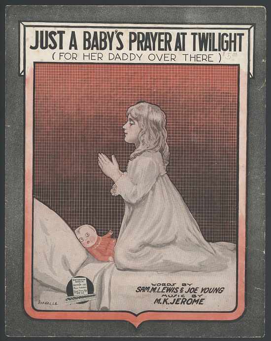 "image for ""Just a Baby's Prayer at Twilight (for Her Daddy Over There)"" Sheet Music"
