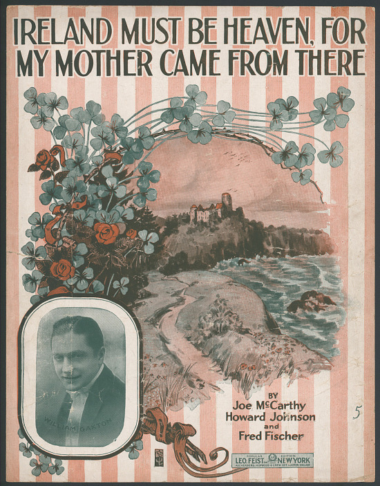 "image for ""Ireland Must Be Heaven, for My Mother Came from There"" Sheet Music"