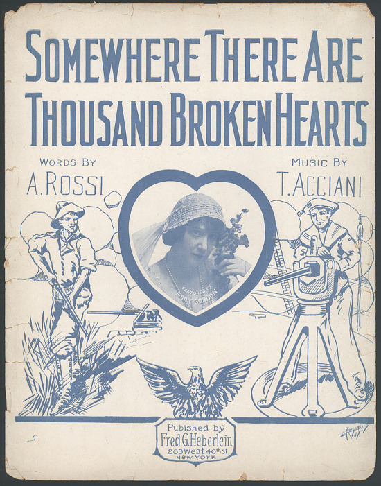 """image for """"Somewhere There Are Thousand Broken Hearts"""" Sheet Music"""
