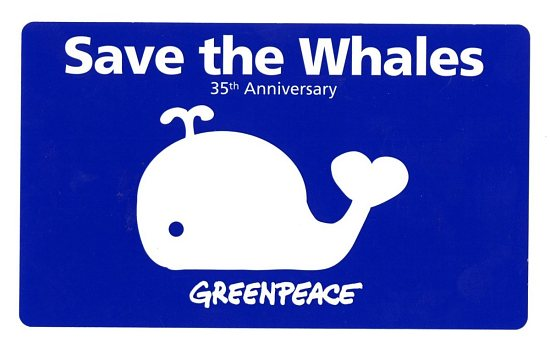 "image for ""Save the Whales"" Greenpeace Sticker"