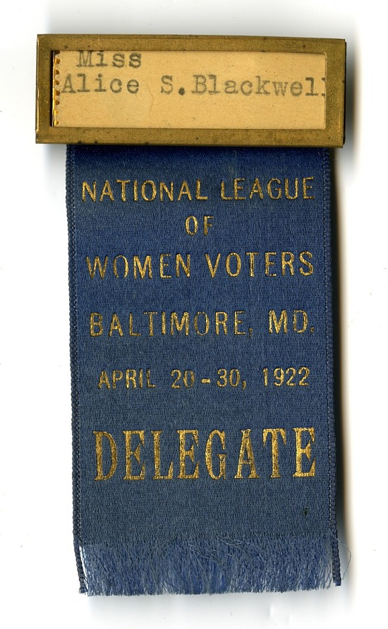 image for National League of Women Voters Delegate Badge, 1922