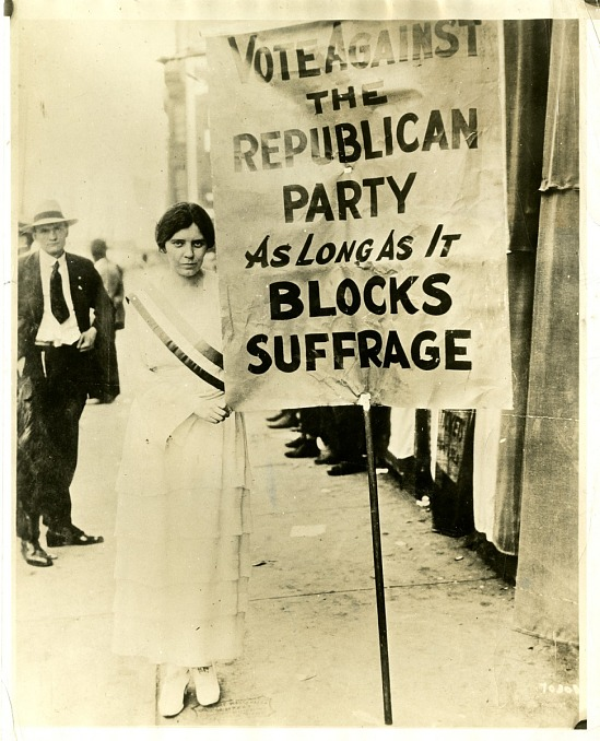 image for Alice Paul with Suffrage Banner, 1920