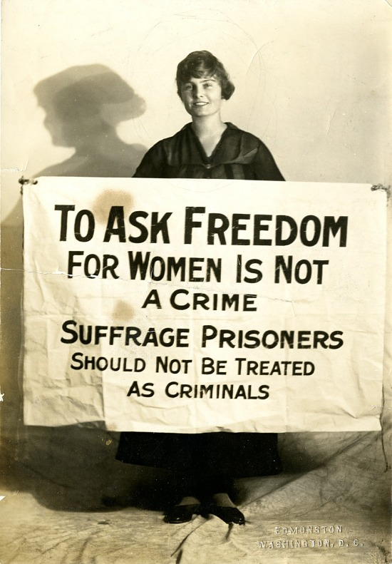 image for Photograph: Suffragist with banner