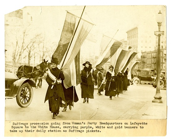 image for Photograph: Suffrage Procession, 1917