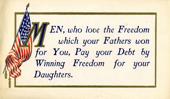 image for Woman Suffrage Postcard