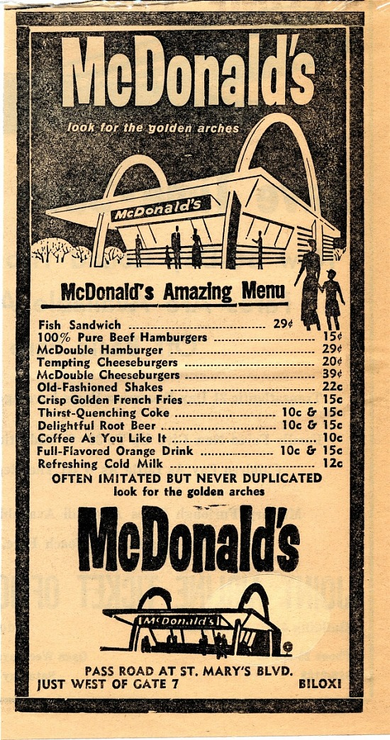 image for Newspaper clipping, McDonald's Menu