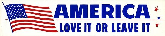 "image for Bumper Sticker, ""America, Love it or Leave it"""