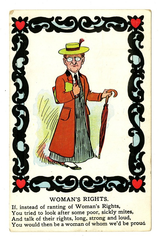image for Anti-Woman Suffrage Postcard