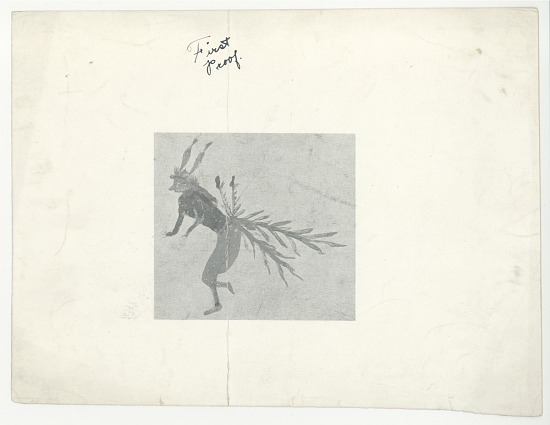 image for Drawing of an Native American figure with feathers
