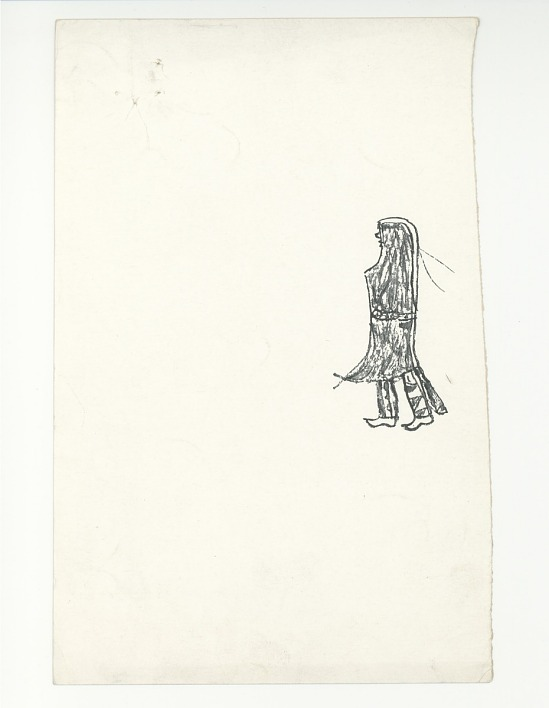 image for Drawing of a Native American figure