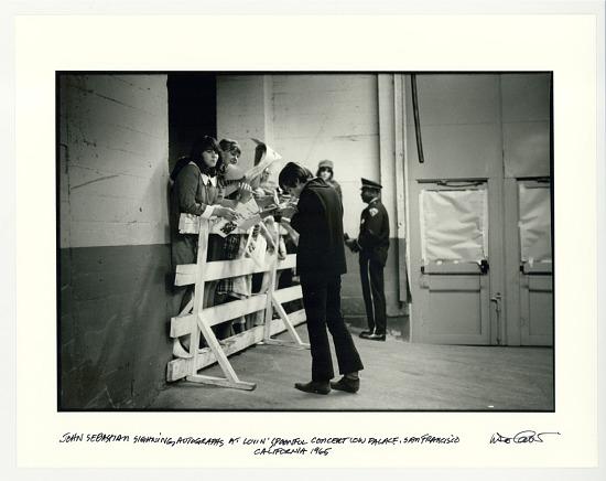 image for John Sebastian signing autographs at Lovin Spoonful concert, Cow Palace, San Francisco, CA. 1965