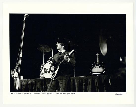 image for John Lennon, Beatles concert, Cow Palace, San Francisco, 1965