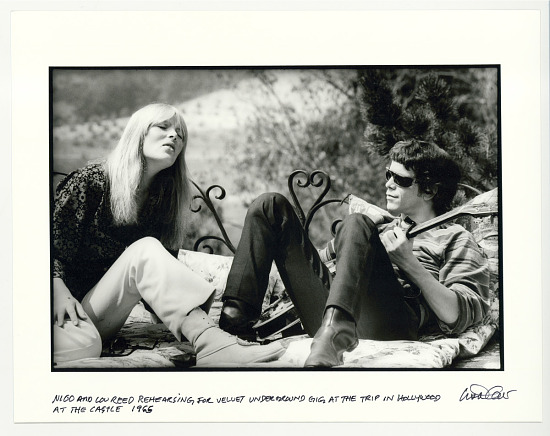 image for Nico and Lou Reed rehearsing for Velvet Underground gig at the Trip in Hollywood, at the Castle, 1965
