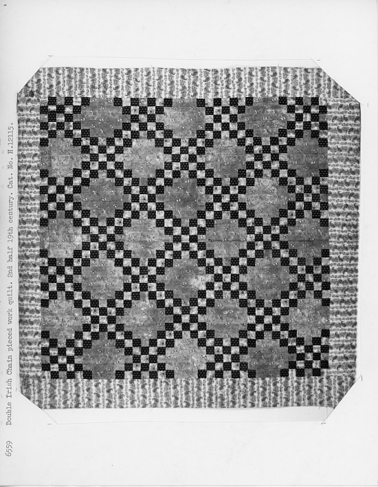 image for 1840-60 Irish Chain pieced quilt