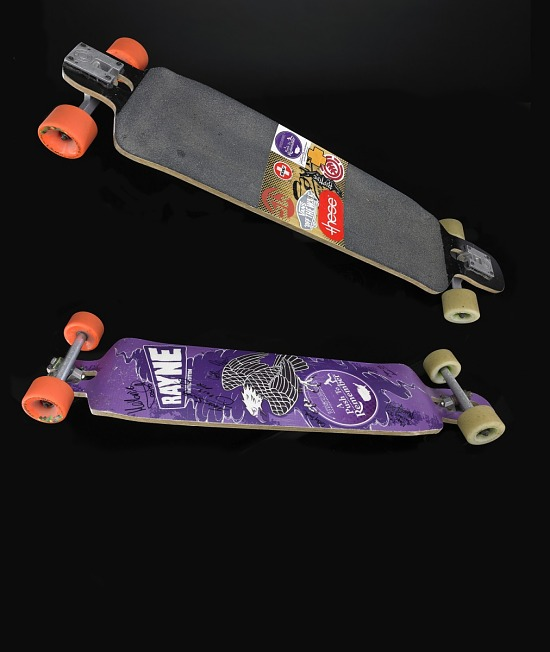 image for Skateboard used by Dylan Smith in a 'Push To Remember - Skateboarding Across America to End Alzheimer's'