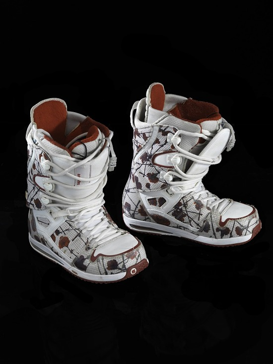 image for Snowboard boots worn by Hannah Teter during the 2010 Winter Olympic Games