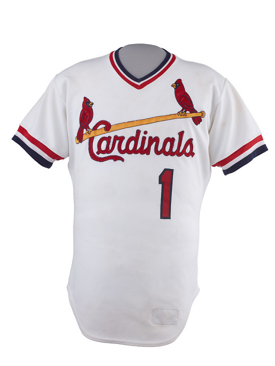 arrives 2ab29 1732e St. Louis Cardinals Jersey, worn by Ozzie Smith ...