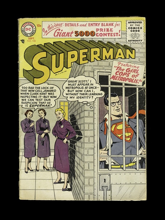"image for Superman, ""The Girl Cops of Metropolis"""