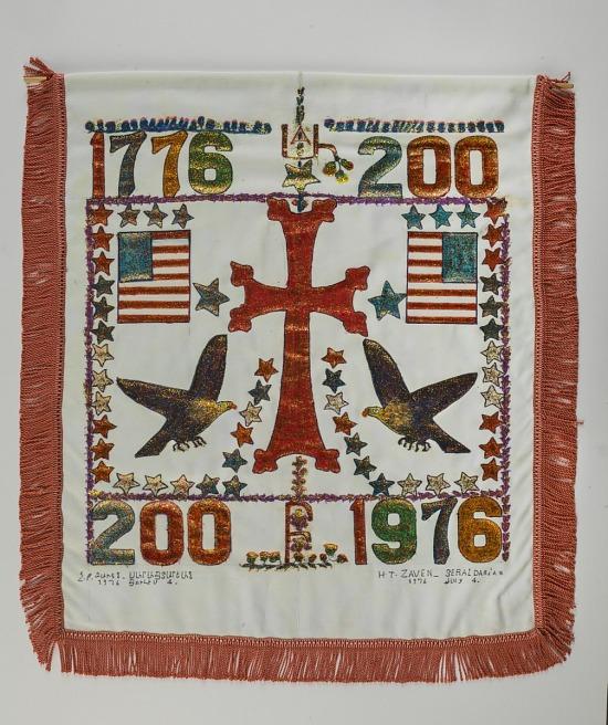 image for Armenian-American Bicentennial Banner, 1976