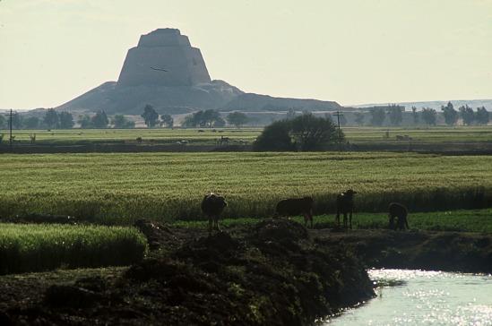 image for Agricultural landscape around King Sneferu's pyramid, Meidum Pyramid, Egypt, slide