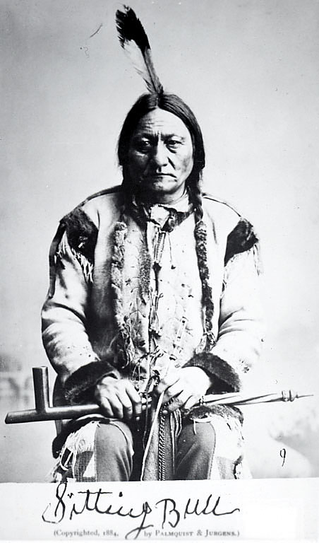 image for Portrait of Sitting Bull in Native Dress and Holding Pipe 1884