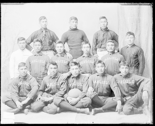image for Portrait of School Football Team in Football Uniform 1889