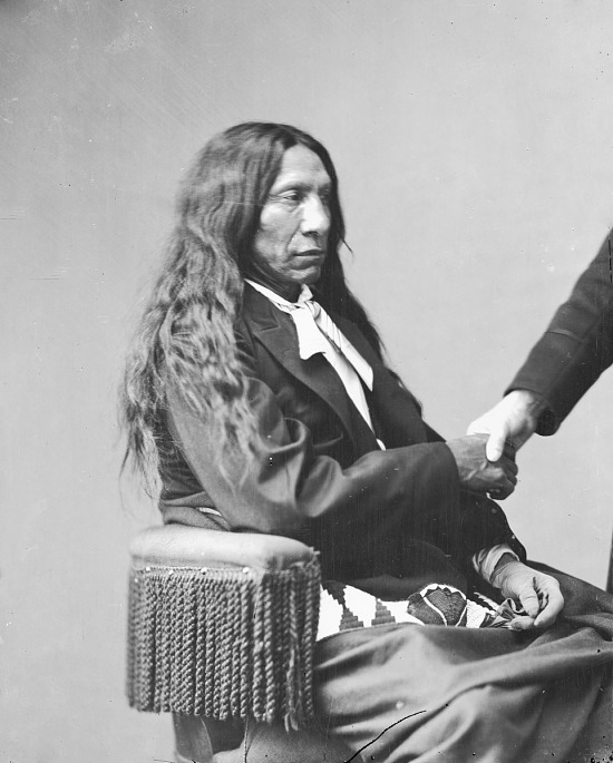 image for Portrait (Profile) of Chief Makhpiya-Luta or Ma-Kpe-Ah-Lou-Tah (Red Cloud or Scarlet Cloud) in Partial Native Dress MAY 1872